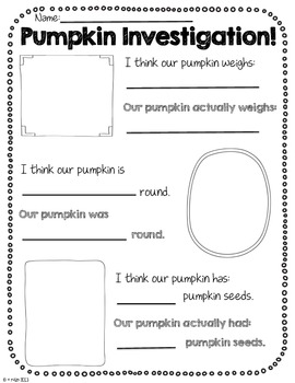 The Great Pumpkin Packet-Pumpkin literacy activities with research!
