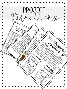 THE GREAT PUMPKIN PROJECT- Pumpkin Life Cycle Observation Journal