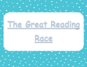 The Great Reading Race Literacy Center - Blue Dots