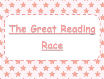 The Great Reading Race Literacy Center - Pink Stars