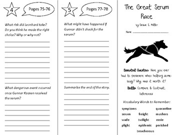 The Great Serum Race Trifold - Open Court 5th Grade Unit 1 Lesson 4