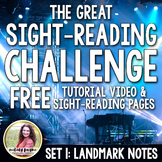 The Great Sight-Reading Challenge FREEBIE {Tutorial Video & Sightreading Pages}