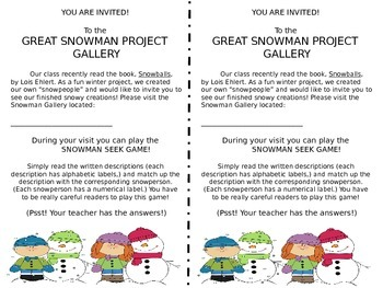 The Great Snowman Project (Using Snowballs by Lois Ehlert.)