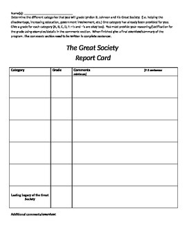 The Great Society Report Card