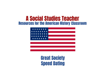The Great Society Speed Dating