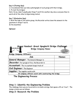 The Great Spaghetti Bridge Challenge