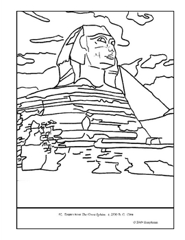 The Great Sphinx.  Coloring page and lesson plan ideas