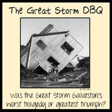 THE GREAT STORM - GALVESTON HURRICANE DBQ