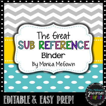 The Great Sub Reference Binder!