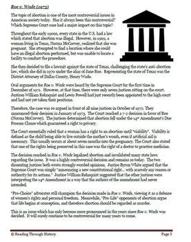 The Great Supreme Court Cases: Korematsu, Roe v. Wade, Texas v. Johnson