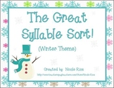 The Great Syllable Sort - Syllabication Patterns (Winter Theme)