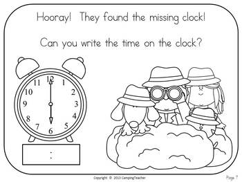 The Great Time Mystery - A Book Activity and Printables for Time and Clocks