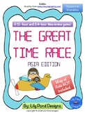 Reading Time Review Game - The Great Time Race - Asia Edition (in Kilometres)