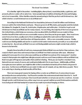 The Great Tree Debate Free Resource