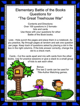 The Great Treehouse War -  Over 100  EBOB Questions