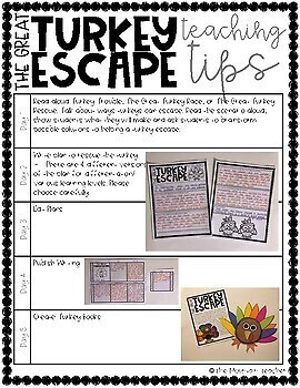 The Great Turkey Escape Imaginative Narrative Writing and Craft