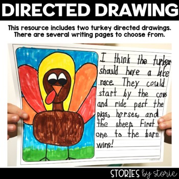 The Great Turkey Race  (Book Questions, Vocabulary, & Turkey Directed Drawing)