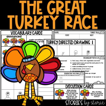 The Great Turkey Race  (Book Questions, Vocabulary, & Turk