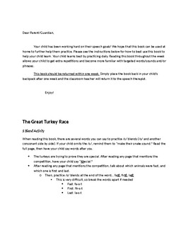 The Great Turkey Race Speech & Fluency Activities