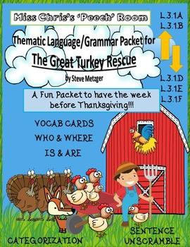 "The Great Turkey Rescue Language Packet ""wh"" Quest - Noun/"