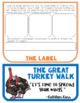 The Great Turkey Walk, Book Study, Flipbook, Activities