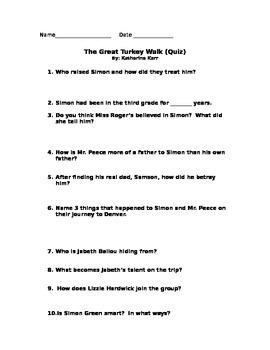 The Great Turkey Walk Quiz
