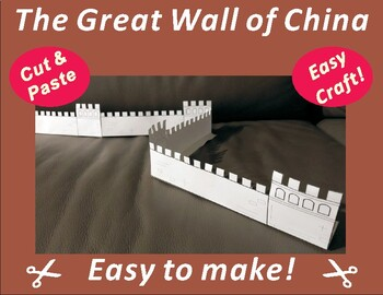 The Great Wall of China Paper Cutting Craft