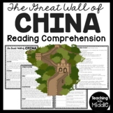 The Great Wall of China Reading Comprehension Ancient China