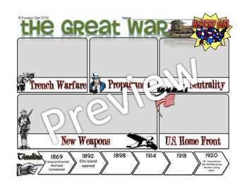 The Great War: PowerPoint and Student Infographic