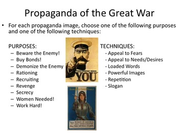 The Great War - Propaganda Exercise (World War I)