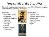 The Great War - Propaganda Exercise (World War I)