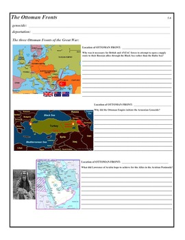 The Great War (World War I) 19 Day Unit - PowerPoint & Activities