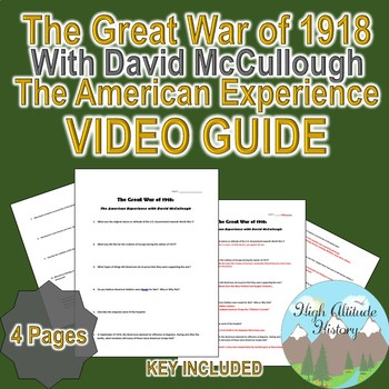 The Great War of 1918: The American Experience w/ David Mc