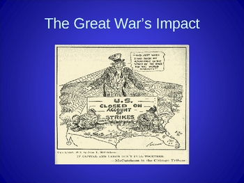The Great War's Impact