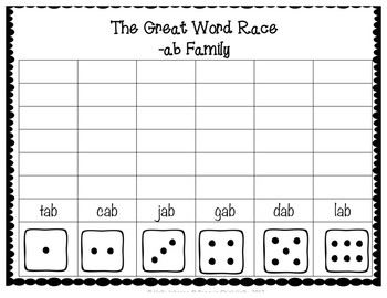 The Great Word Race Short Vowel Edition