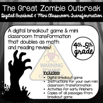 the great zombie breakout a digital breakout and mini classroom