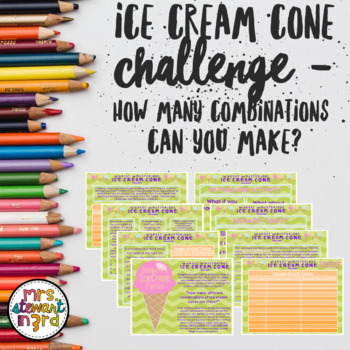 The Great and Mysterious Ice Cream Challenge-How Many Combinations?