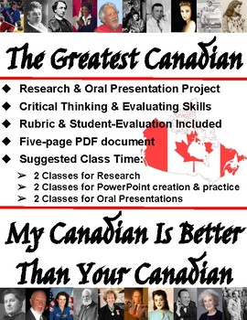The Greatest Canadian - Research Presentation - Celebrates Canada's 151st
