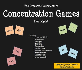 The Greatest Collection of Concentration Games Ever!... And They Really Work!!