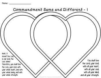The Greatest Commandment Worksheets and Activities Based on Mark