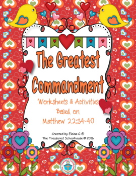 The Greatest Commandment Worksheets and Activities Based on Matthew