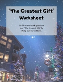 The Greatest Gift Worksheet and Answer Key