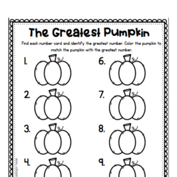 The Greatest Pumpkin (Numbers to 10)