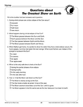 The Greatest Show on Earth (Earth & Space Science/Solar Eclipse)