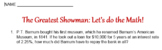 The Greatest Showman: Let's Do the Math Worksheet