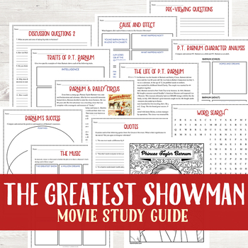 The Greatest Showman Movie Guide Study