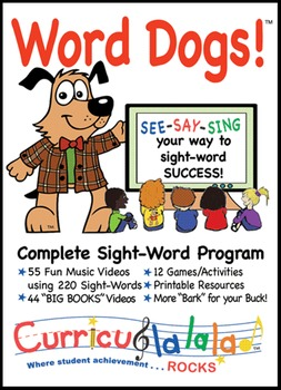 Word Dogs! Complete Sight Word Program (10 Most Common Words)