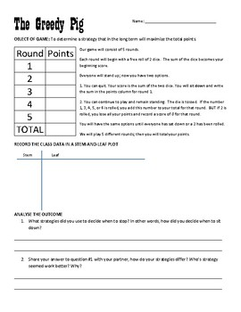 The Greedy Pig Probability Game