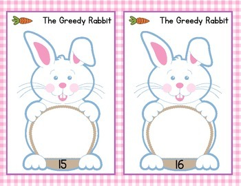 The Greedy Rabbit - Math Center - Easter Game - Numbers 1 to 20