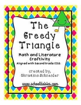 The Greedy Triangle Math and Literature Craftivity